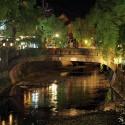 大谿川と愛宕橋の夜景