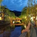 日没直後の城崎温泉