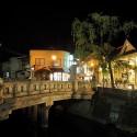 夜の王橋と一の湯