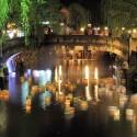 大谿川に浮かぶ灯篭