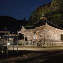 夜の温泉寺薬師堂