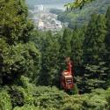 温泉寺から見えるロープウェイ