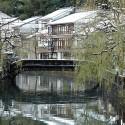 弁天橋からの雪景色