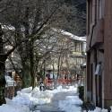 城崎温泉元湯周辺の雪景色