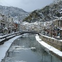 大谿川の雪景色