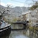 大谿川と雪景色