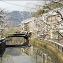 桃島橋からの雪景色