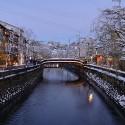 王橋からの雪景色