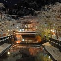 The 城崎温泉の雪景色