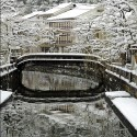 雪の桃島橋