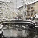 雪の太鼓橋