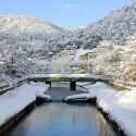 雪の城崎温泉